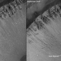 Nirgal Vallis, Two Views Indicating a Recent Flow of Water
